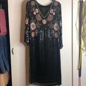 Vintage 1980s Dynasty Dress M/L